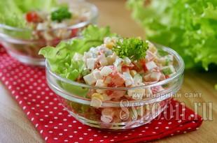 салат с крабовыми палочками и кукурузой фото 8