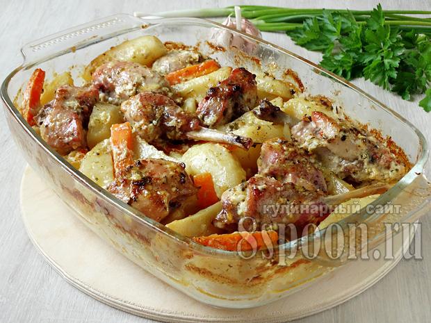 Рецепт кролика с картошкой в духовке чтобы вкусно 130