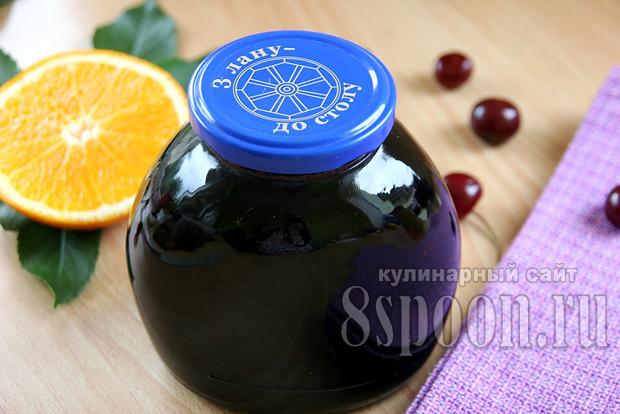 Варенье из вишни с апельсином «Рубиновая ночь»_8