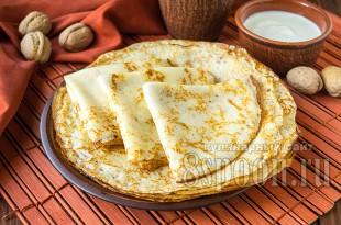 Тонкие блинчики на молоке: рецепт с фото пошагово