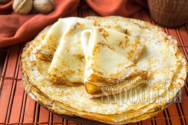 Тонкие блины рецепт с фото пошагово