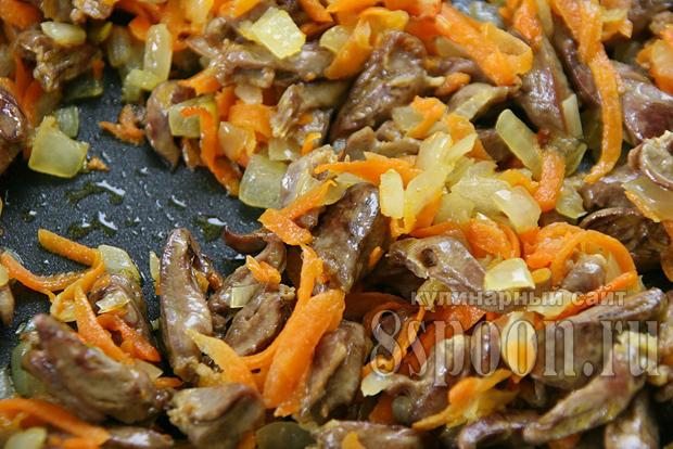 Печень говяжья в сметане с луком на сковороде рецепт с пошагово 191