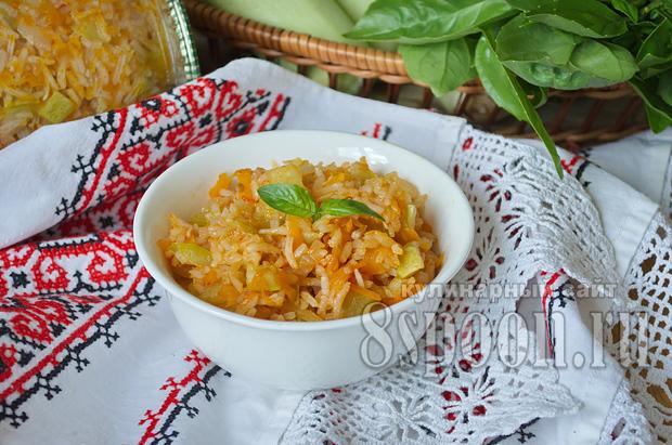 Салат из кабачков на зиму с рисом- рецепт с фото_16
