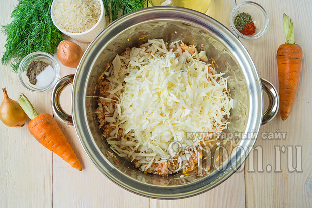 запеканка с капустой и рисом в духовке рецепт
