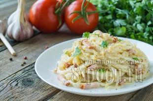 Карбонара- рецепт с беконом и сливками _02