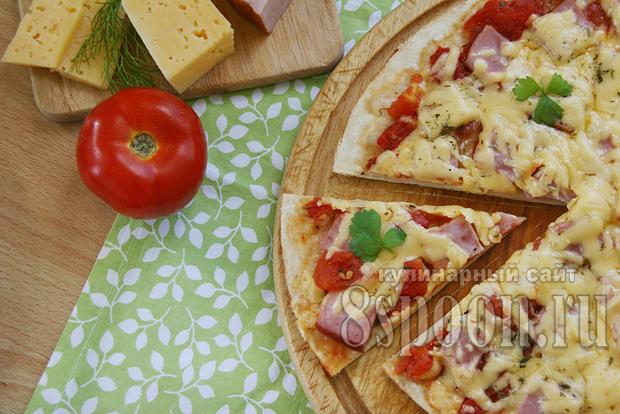 Пицца в домашних условиях: рецепт с фото в духовке