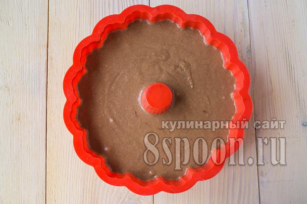 Шоколадный манник на кефире фото_07