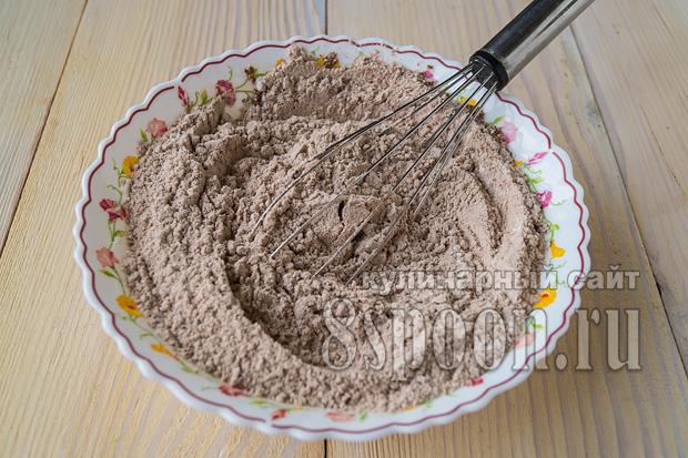 Шоколадный манник на кефире фото_11