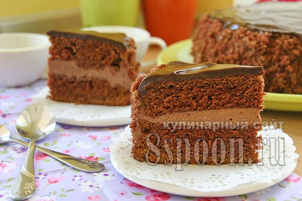 Торт пражский рецепт с фото пошагово _08