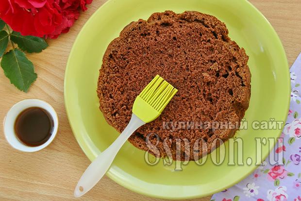 Торт пражский рецепт с фото пошагово _17