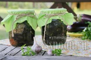 Жареные баклажаны с чесноком на зиму  фото_03