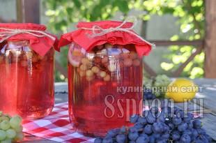 Компот из винограда с лимоном фото 5