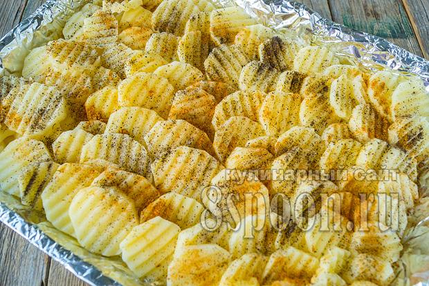 Куриная грудка с картошкой в духовке фото_4