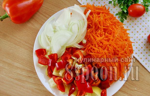 Лечо с морковью и луком рецепт с фото_04