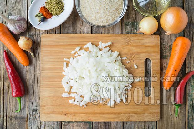 плов с курицей простой рецепт с фото пошагово в кастрюле