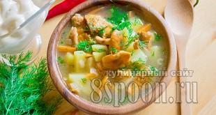Суп с лисичками рецепт с фото  _08
