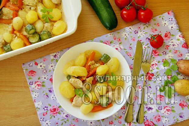 Куриное филе в духовке с картошкой фото_3
