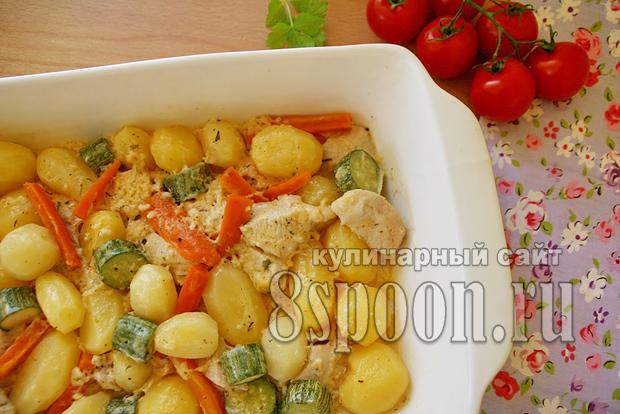 Куриное филе в духовке с картошкой фото_9