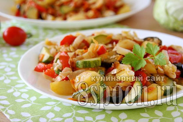 Овощное рагу с картошкой и капустой фото_10