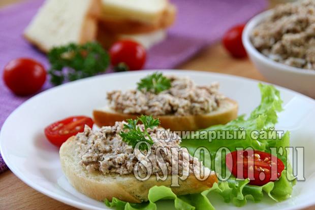 Бутерброды с сардиной, яйцом и плавленым сыром_3