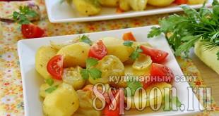 Картошка в духовке с кабачками  _6