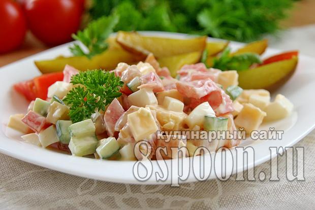 Салат с копченой курицей рецепт с фото  _1