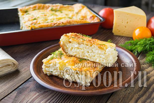 ачма из лаваша с сыром и творогом