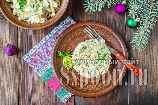 салат с крабовыми палочками и огурцом и яйцом рецепт