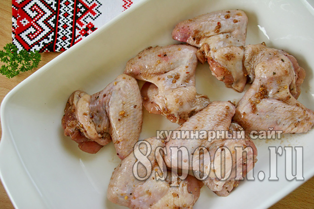 Запеченные куриные голениы