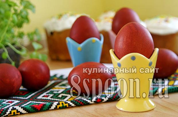 Как красить яйца в луковой шелухе фото_4
