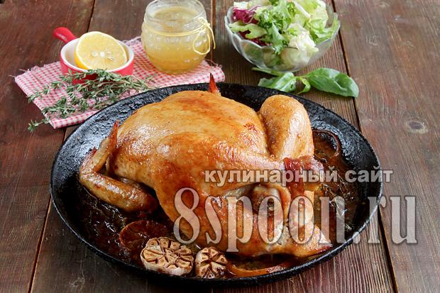 Курица в духовке целиком рецепт с фото _7