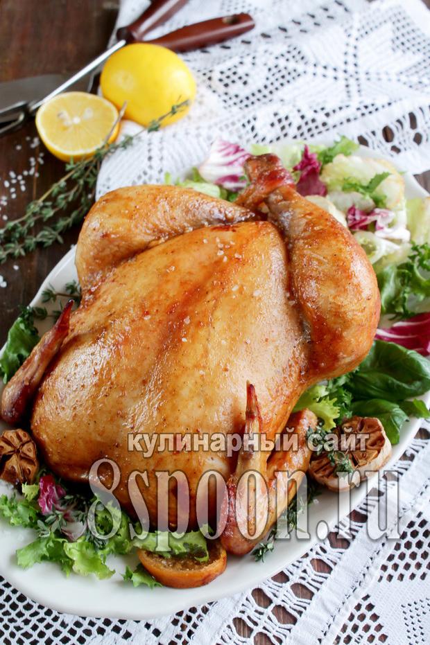 Курица в духовке целиком рецепт с фото _8