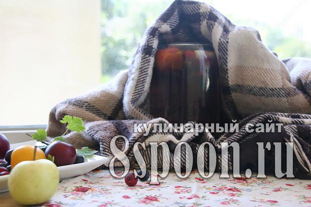Компот из крыжовника на зиму фото_8