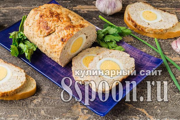 мясной. рулет с яйцом в духовке рецепт с фото