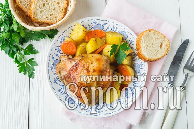 Курица с картошкой в рукаве в духовке фото_04