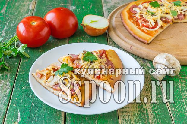 Быстрое дрожжевое тесто для пиццы фото_06