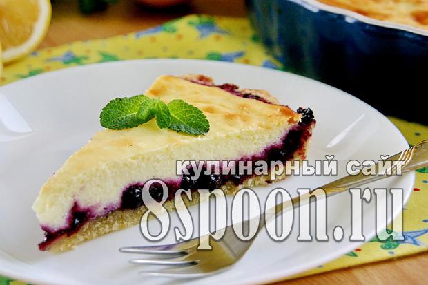 Черничный пирог рецепт с фото _04