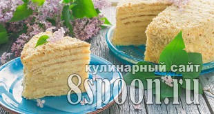 Торт на сковороде со сгущенкой рецепт с фото _17