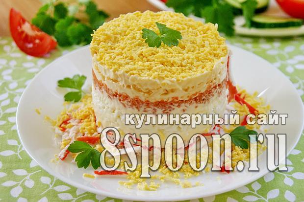 простые салаты с блинчиками рецепты с фото простые и вкусные