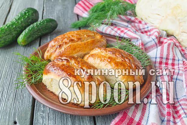 Пирожки с капустой в духовке: пошаговый рецепт с фото