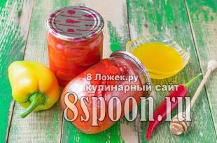 Маринованный перец с медом фото