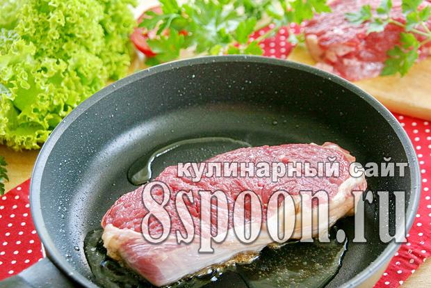 Стейк из говядины на сковороде рецепт в домашних условиях