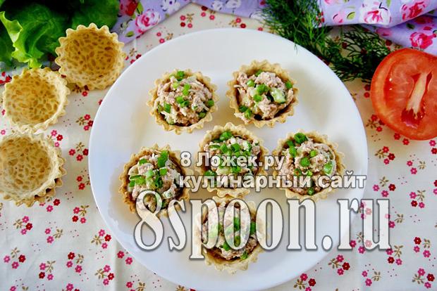 тарталетки с печенью трески 7