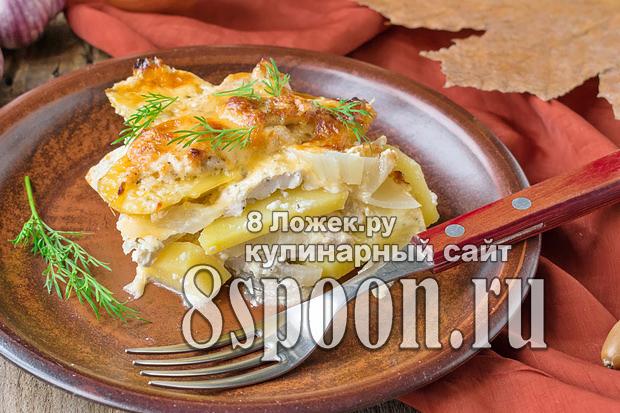 Запеканка с курицей и картошкой в духовке фото