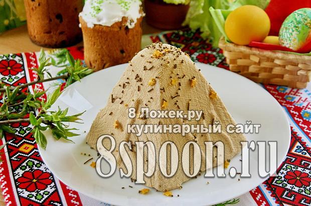 Творожная пасха с вареной сгущенкой фото_01