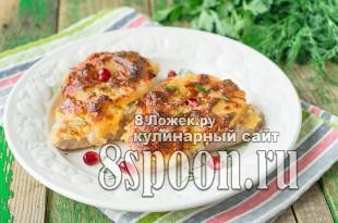 Отбивные с ананасами и сыром в духовке фото_2