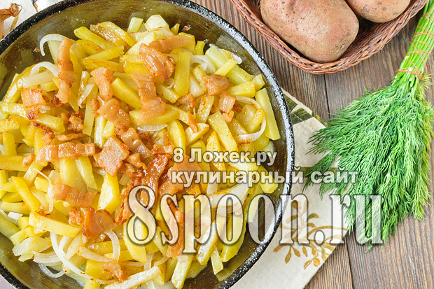 Жареная картошка с салом фото_04