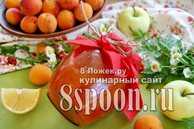Абрикосовый джем с яблоками джем 10