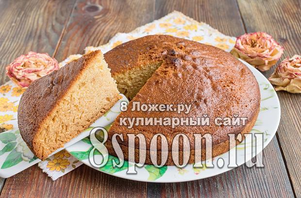 Бисквит на кефире в духовке  фото 1