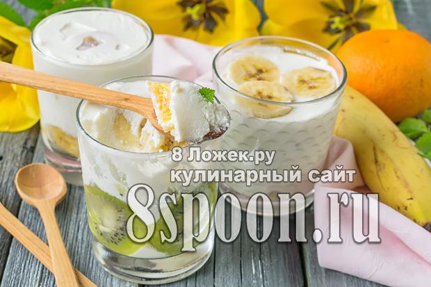 Творожный десерт с желатином и фруктами фото_04
